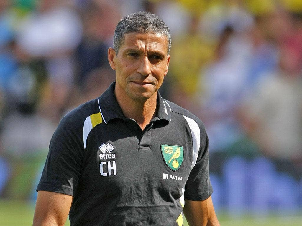 Norwich manager Chris Hughton hopes to upset his old club Spurs