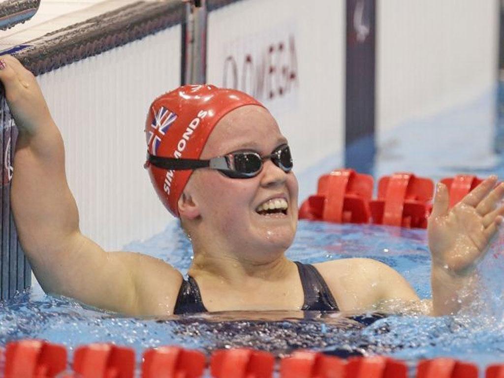 Golden girl: Ellie Simmonds won the S6 400m freestyle race
