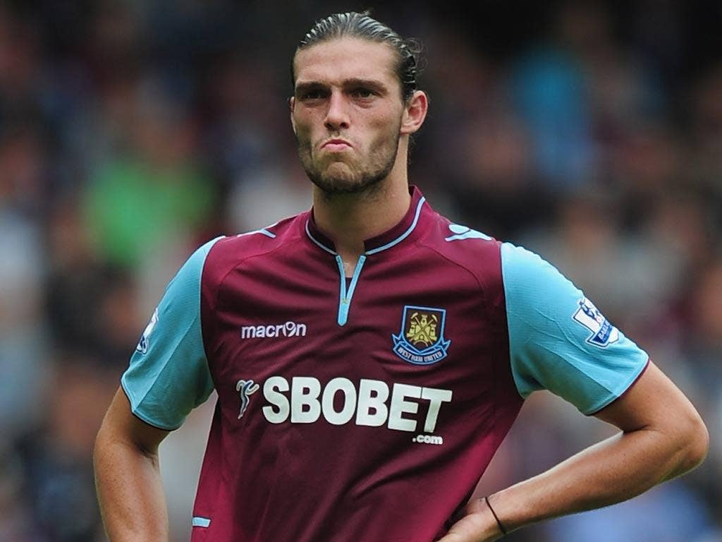 Liverpool striker Andy Carroll is on loan at West Ham
