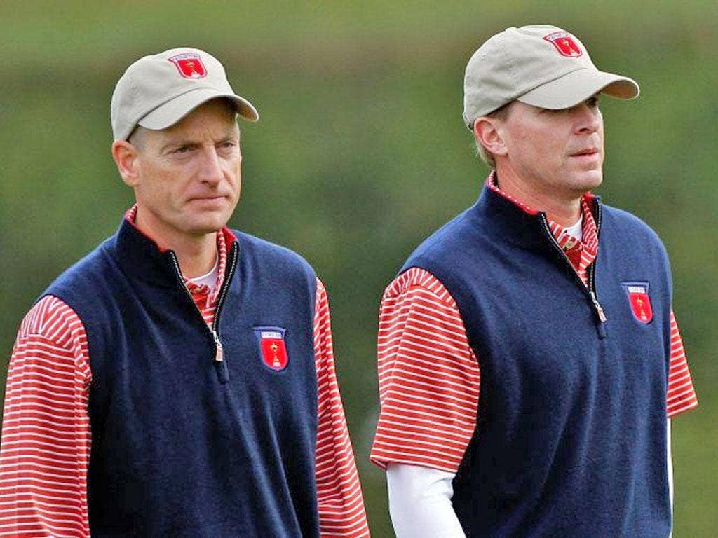 Furyk and Stricker could be Love's choice, to give the US team's three rookies support