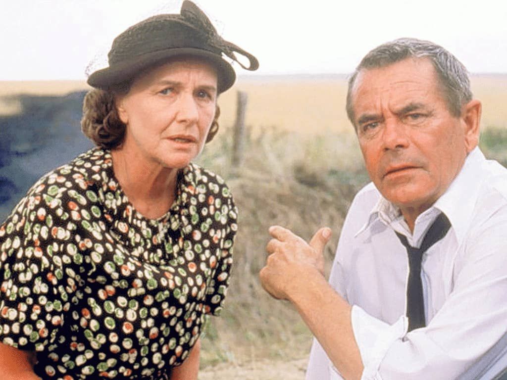 Thaxter with Glenn Ford, as the adoptive parents of Superman in Richard Donner's 1978 film