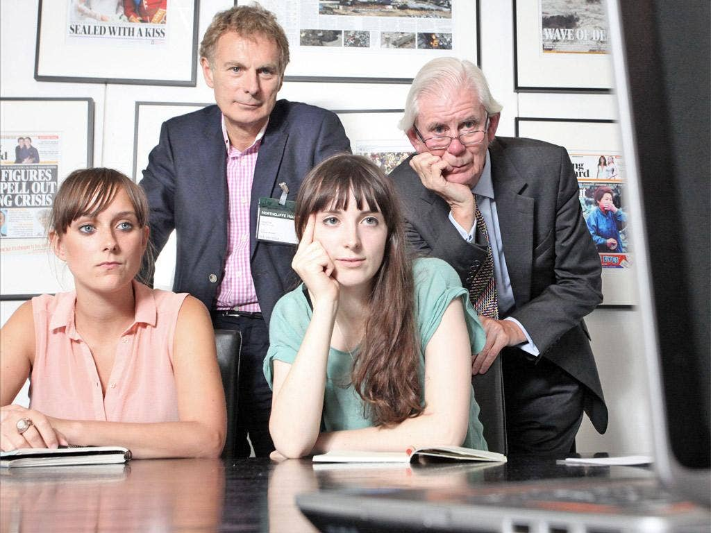 Andreas Whittam Smith with members of the Democracy 2015 team. The movement aims to return political power to ordinary people