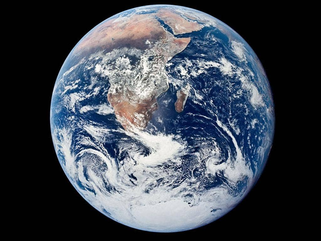 The 'blue marble' shot from Apollo 17