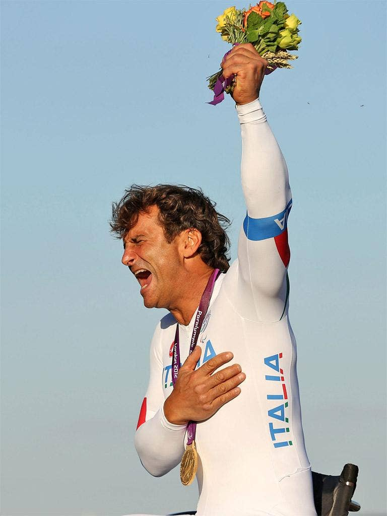 Alex Zanardi sped to victory despite being two decades older than most of his competitors