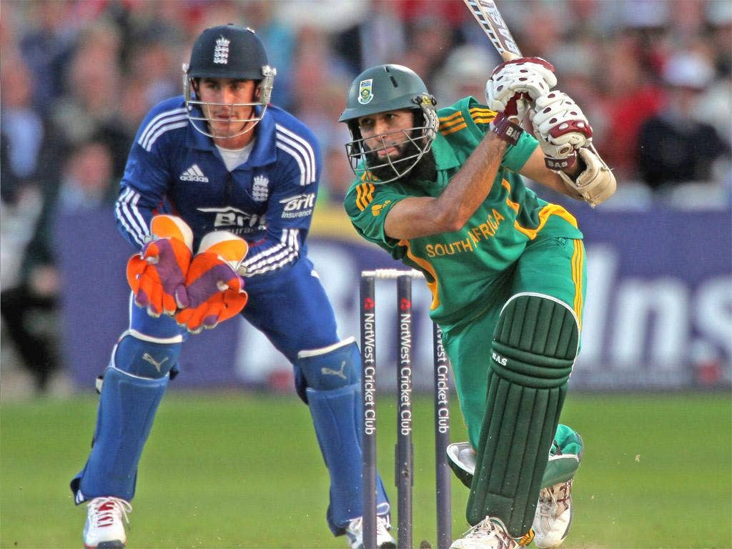 South Africa's man of the match and man of the series, Hashim Amla, tormented England at the crease yesterday