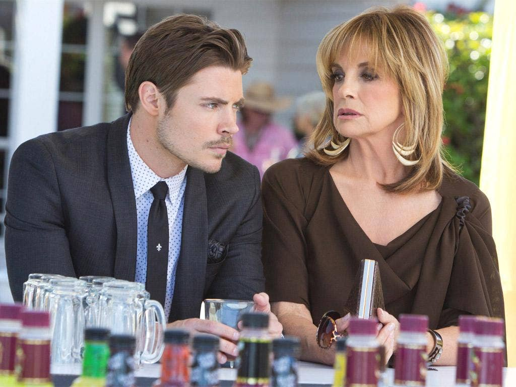 Josh Henderson as John Ross Ewing and Linda Gray as Sue Ellen