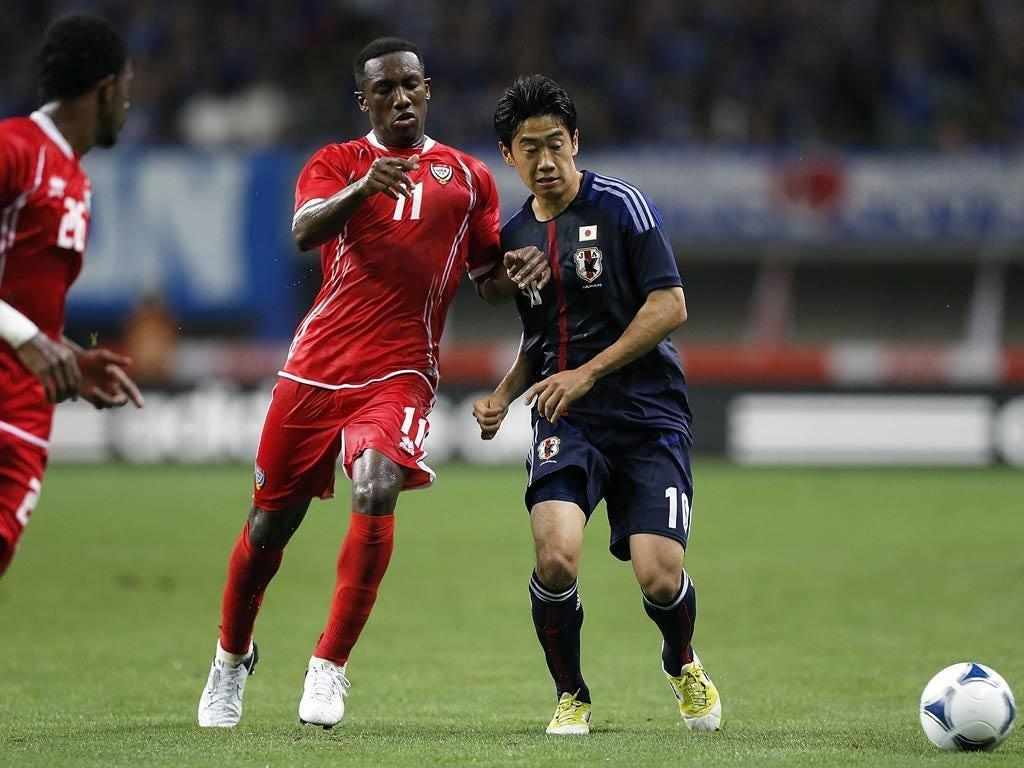 Shinji Kagawa in action for Japan
