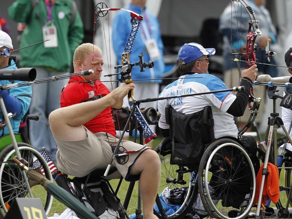 Matt Stutzman won a silver medal in the archery this week