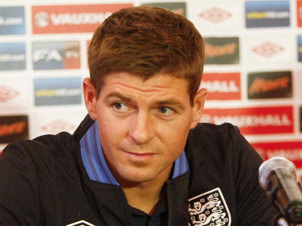 Steven Gerrard: The captain may team up with Frank Lampard in England's midfield tonight