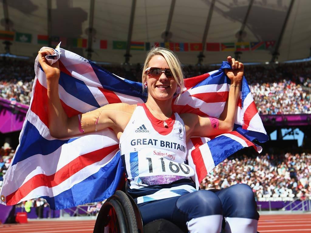 Josie Pearson celebrates gold
