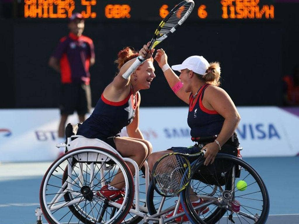 Jordanne Whiley and Lucy Shuker spent over three hours on court