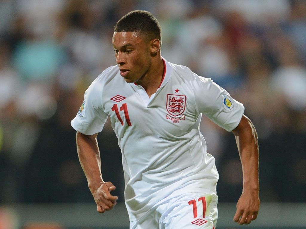 Young gun: Alex Oxlade-Chamberlain impressed Hodgson in Moldova