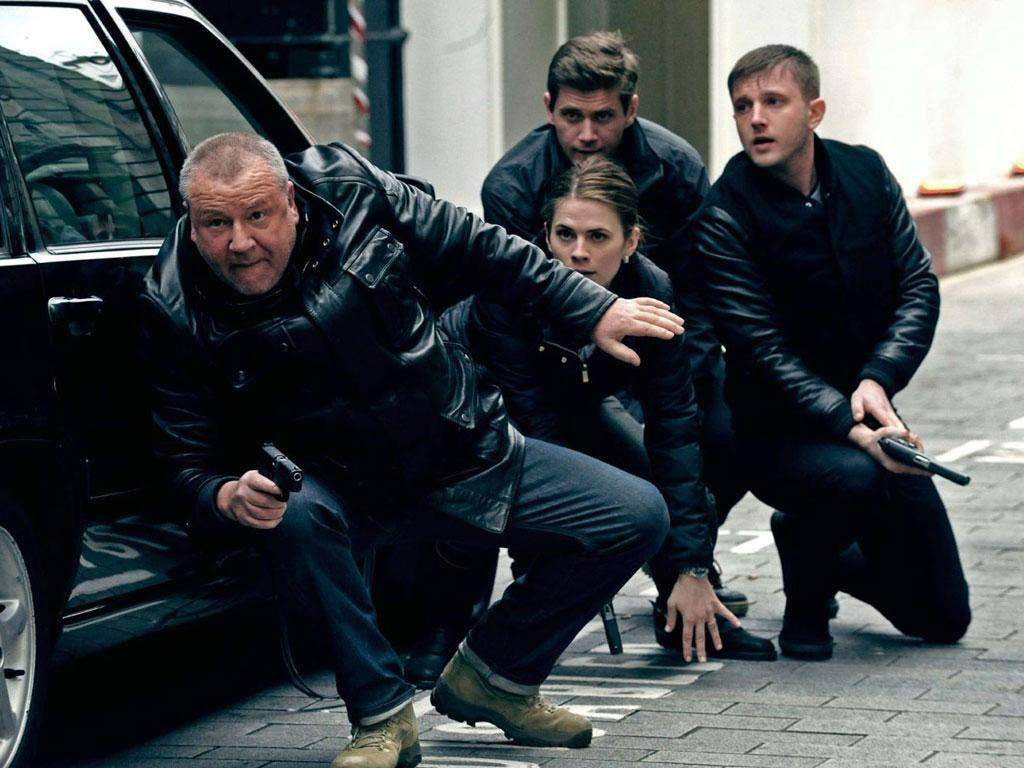 Modern times: Ray Winstone, far left, and Ben Drew, far right, take over as the tough London coppers