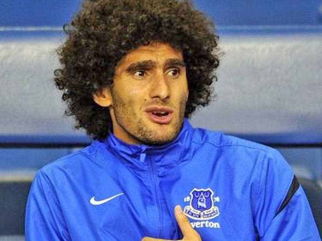 The midfielder Marouane Fellaini claims he could leave Everton in January