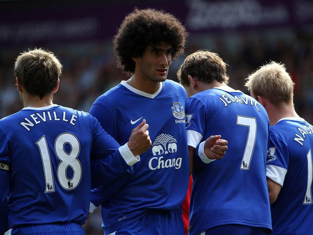 Everton midfielder Marouane Fellaini