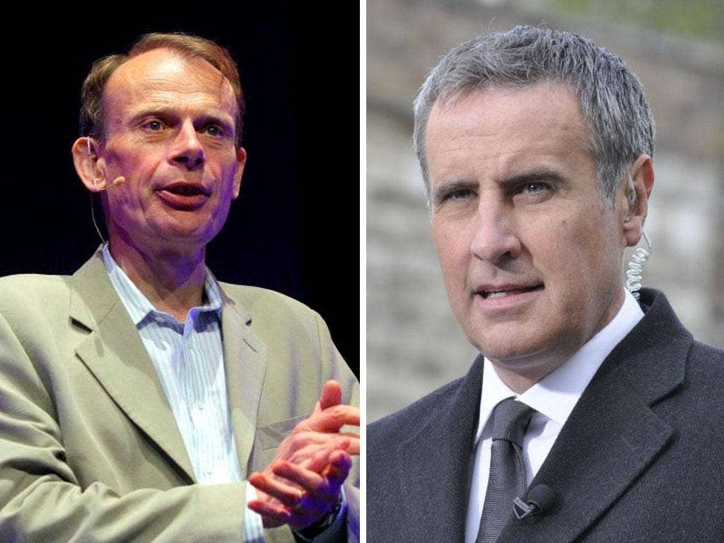 Andrew Marr ,left, and Dermot Murnaghan break the journalism rule of becoming the story