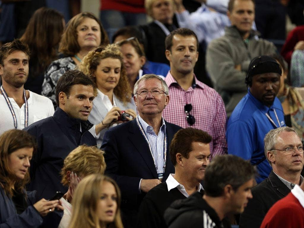 Sir Alex Ferguson watches Andy Murray in the US Open final