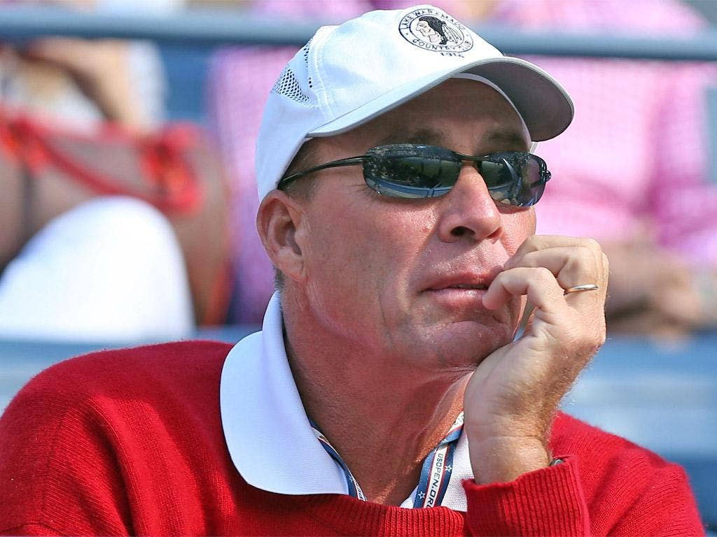 Ivan Lendl watches anxiously during Andy Murray's win