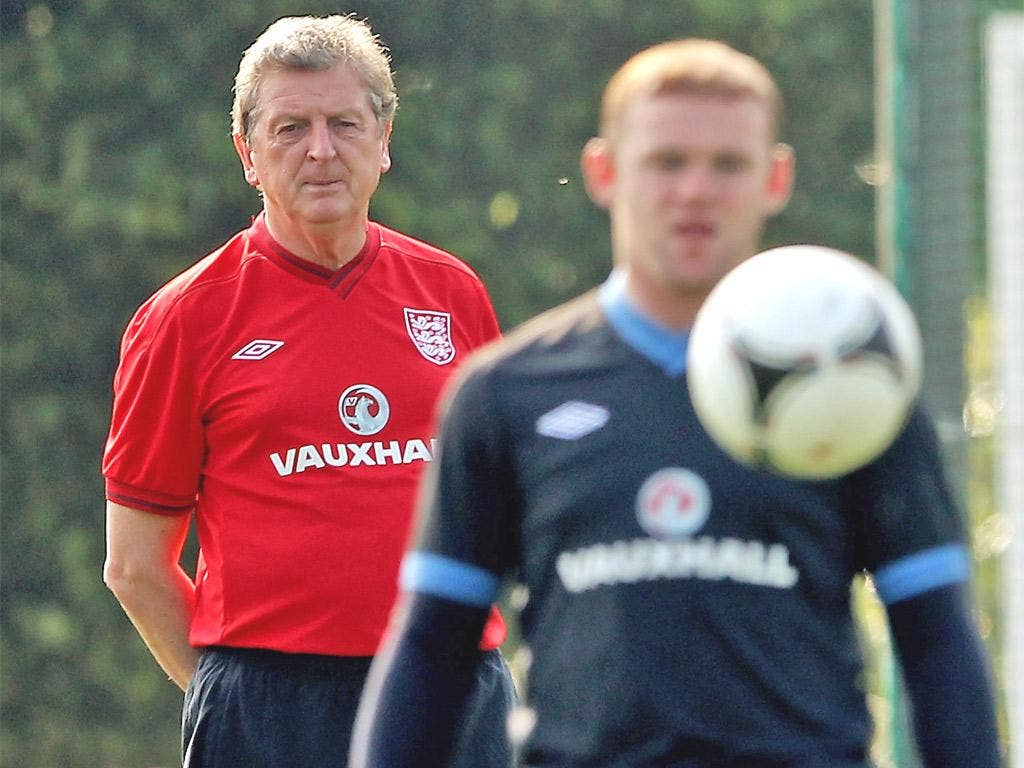 The England manager, Roy Hodgson, with the player he most wants 'back in the fold'
