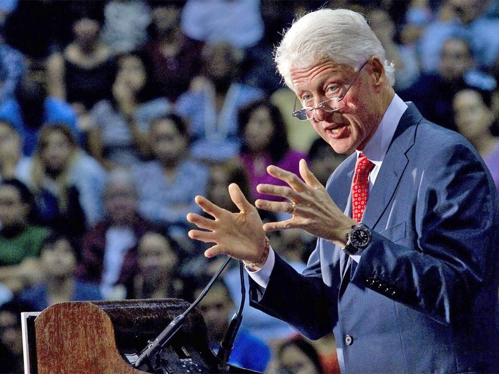 Bill Clinton spoke without a prepared speech or teleprompter