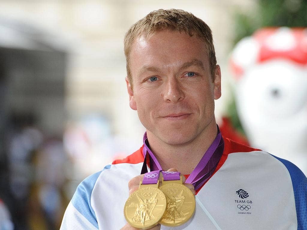 Sir Chris won two gold medals at the London 2012 Games, taking his Olympic gold medal total to six