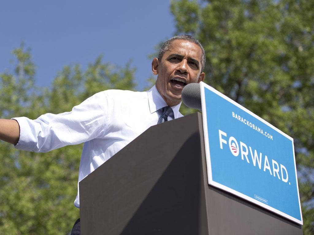 President Obama, campaigning in Colorado yesterday, fended off Mitt Romney's criticism of his handling of Arab violence against the US