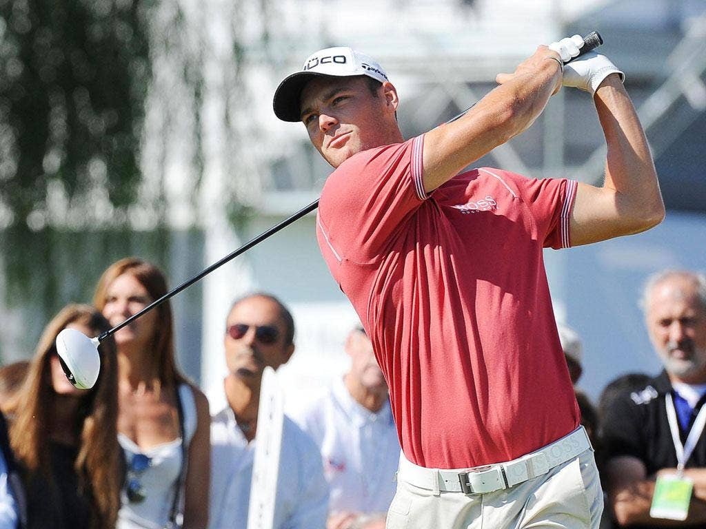 Easy ryder: Martin Kaymer on his way to a 67 in the third round of the Italian Open, a sign of a return to form