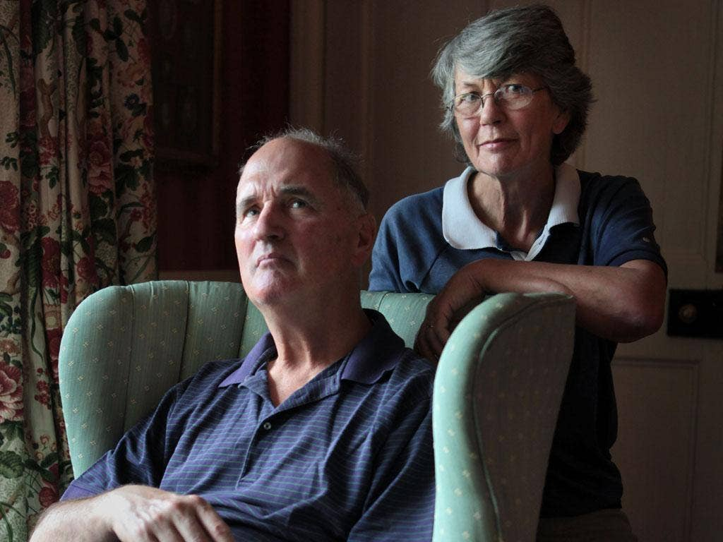 Vicki Graham is her husband Jamie's carer - he suffers from Alzheimers