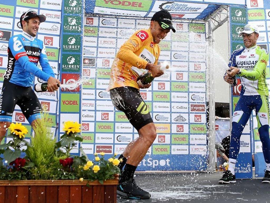 Jonathan Tiernan-Locke celebrates his victory