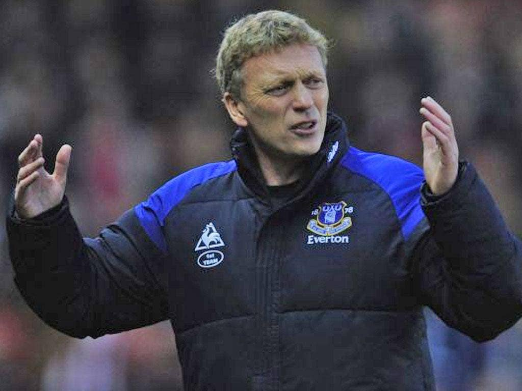 David Moyes: The Everton manager has praised the progress of the Magpies