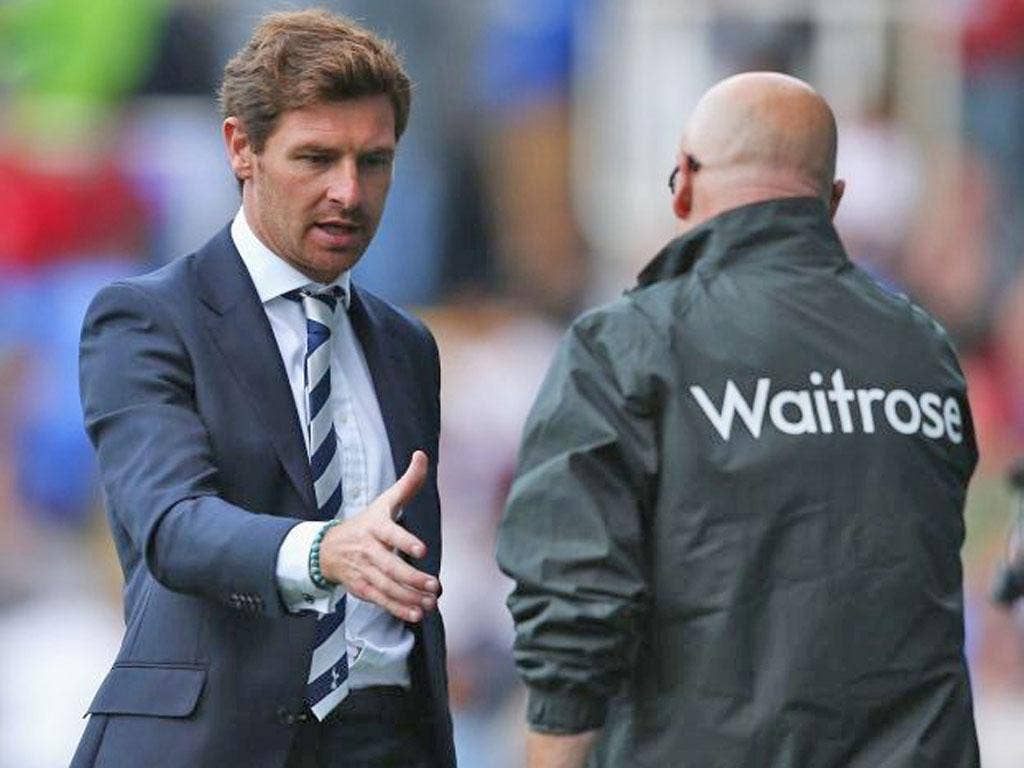 Andre Villas-Boas picked up his first win with Tottenham