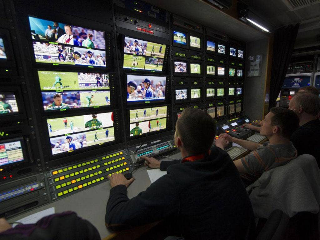 Production staff choose between 30 cameras, which offered no hiding place for England's Ravi Bopara after his duck