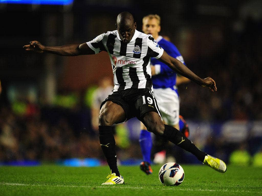 Newcastle's Demba Ba scored both goals for his side