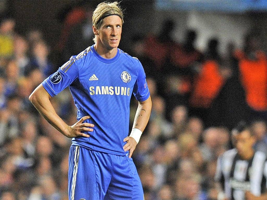 Chelsea's Fernando Torres played a lone role up front