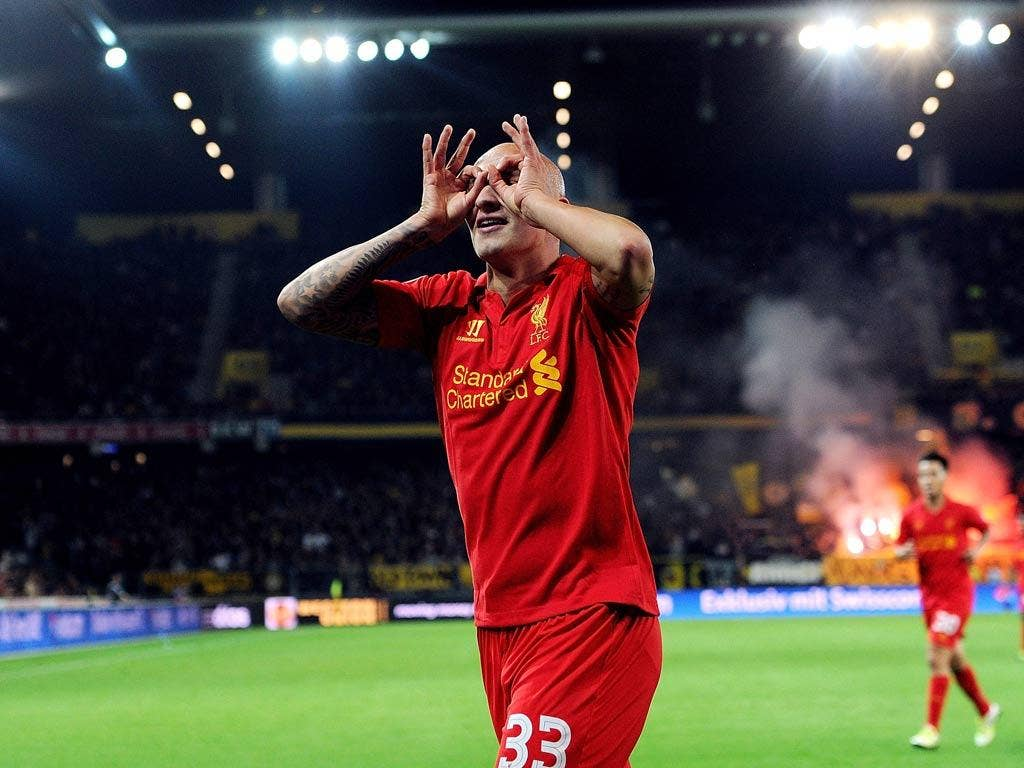 Liverpool midfielder Jonjo Shelvey