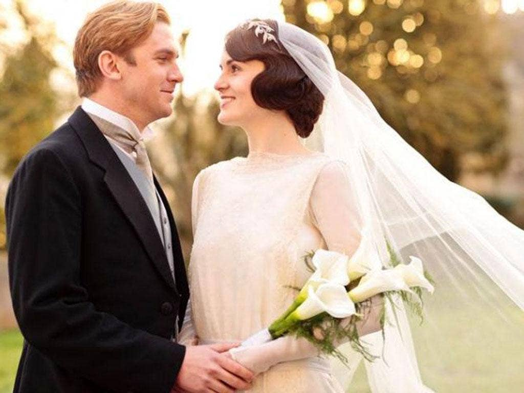 Marriage à la mode: Downton's Dan Stevens as Matthew Crawley and Michelle Dockery as  Lady Mary