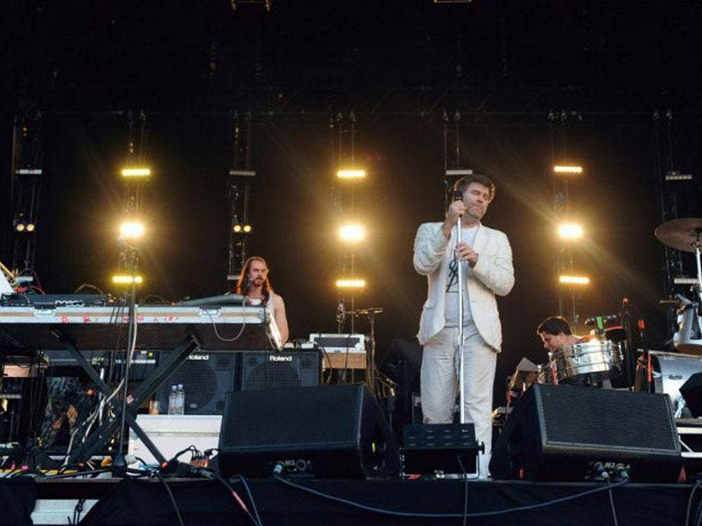Bowing out: Singer James Murphy, centre, and LCD Soundsystem have gone their separate ways after 10 years