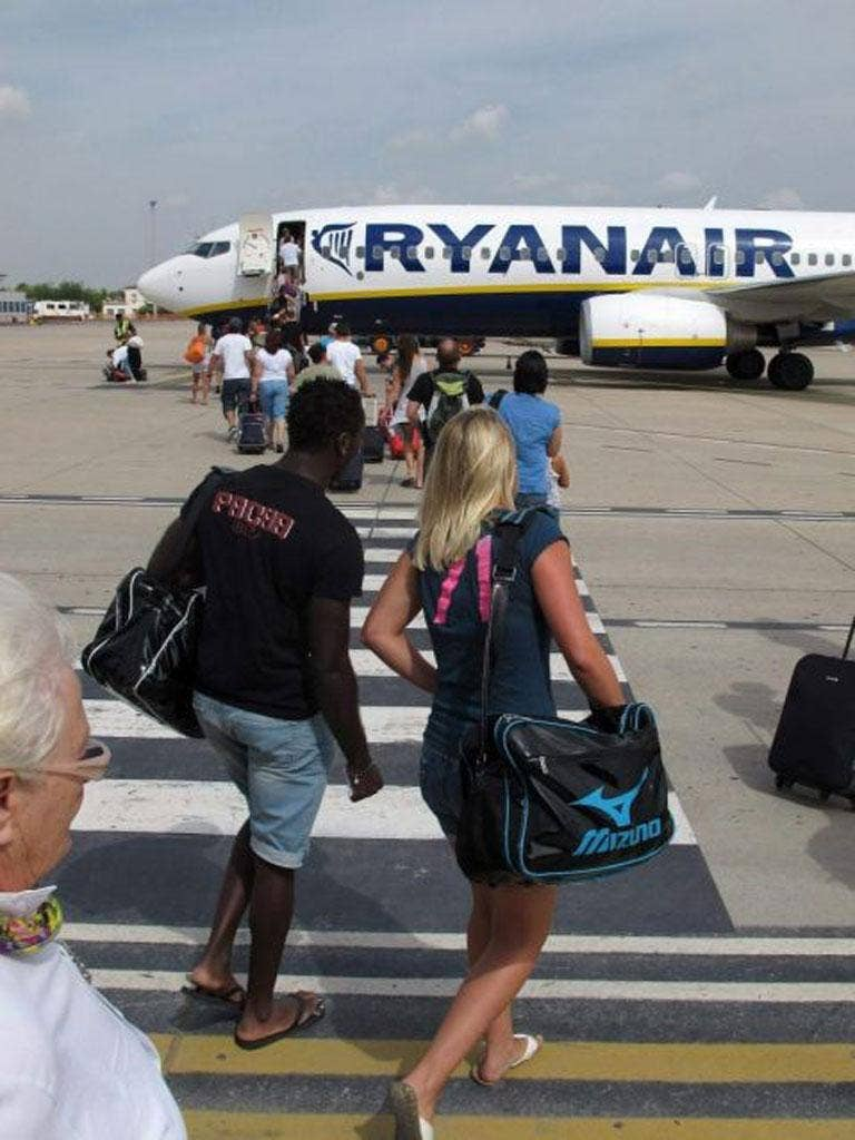 Ryanair is accused of profiting excessively from currency cards EPA