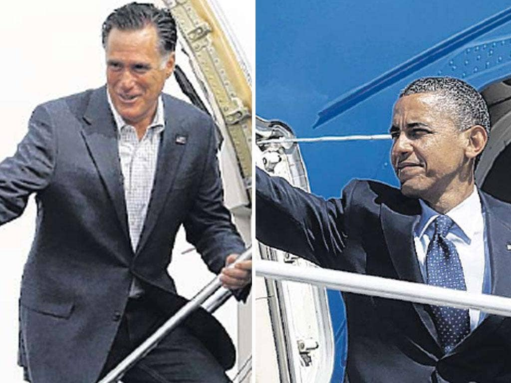 Mitt Romney and Barack Obama took their campaigns to Ohio yesterday
