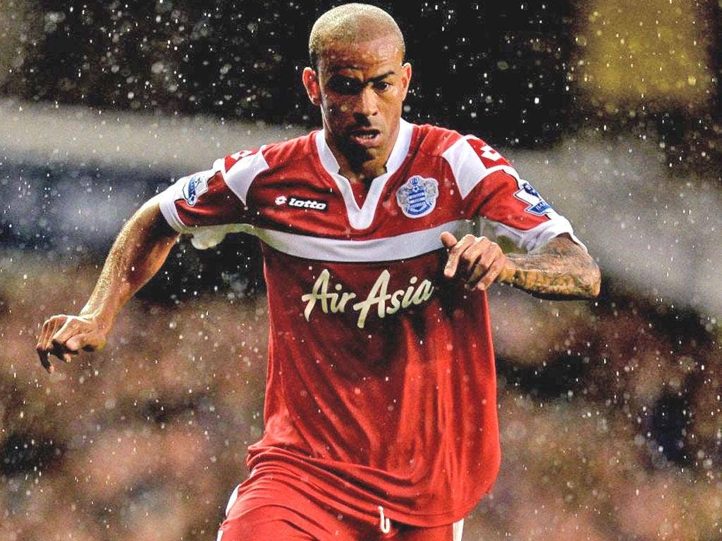 Kieron Dyer in action for QPR at White Hart Lane on Sunday