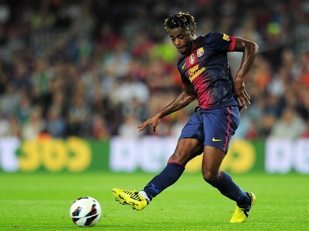 Barcelona midfielder Alex Song