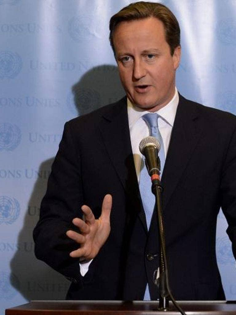 David Cameron issued a call at the United Nations General Assembly in New York for other members of the international community to do more to help victims of the violence in Syria