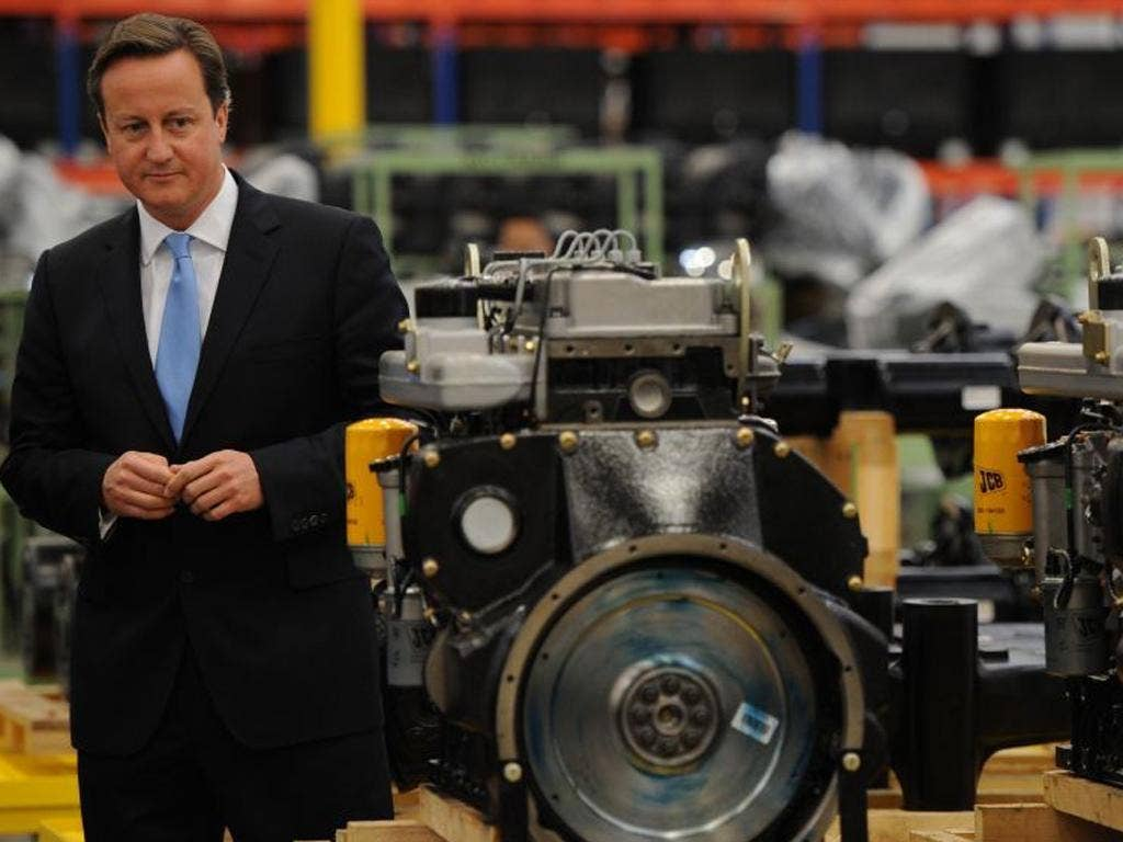 David Cameron opens a new JCB factory in Sao Paolo