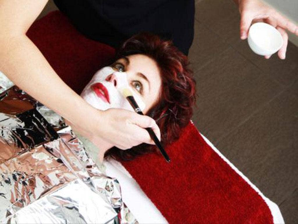 Foiled again: Ruby Wax takes a visit to the resort's spa centre Robson Studios