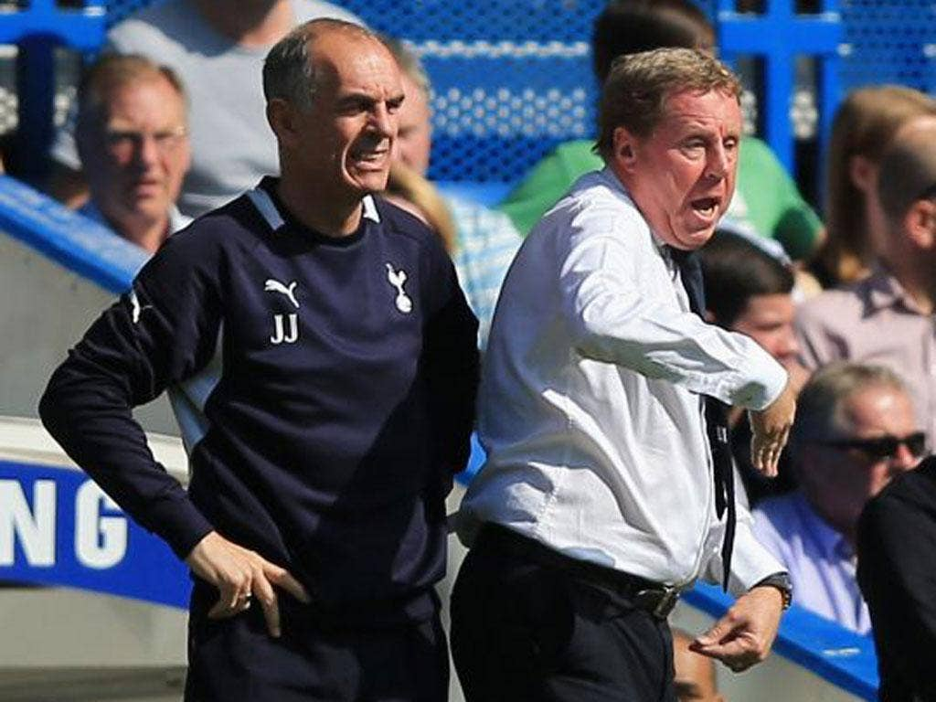 Joe Jordan (left) and Harry Redknapp guided Spurs to fourth