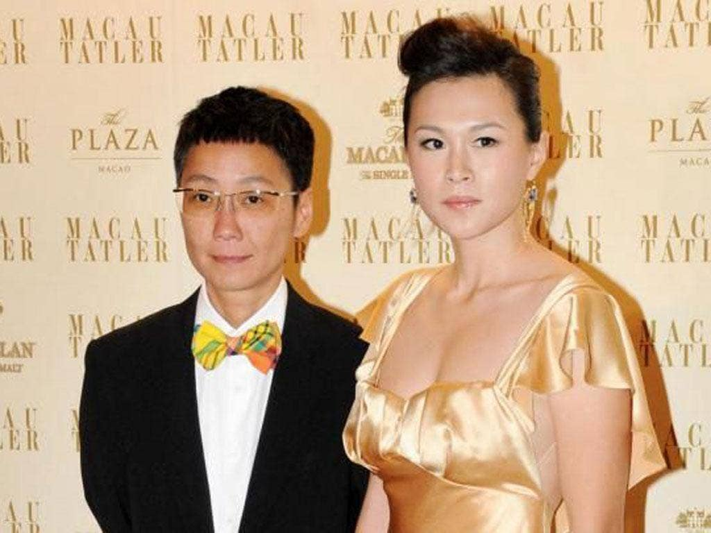 Gigi Chao, right, with her partner Sean Eve