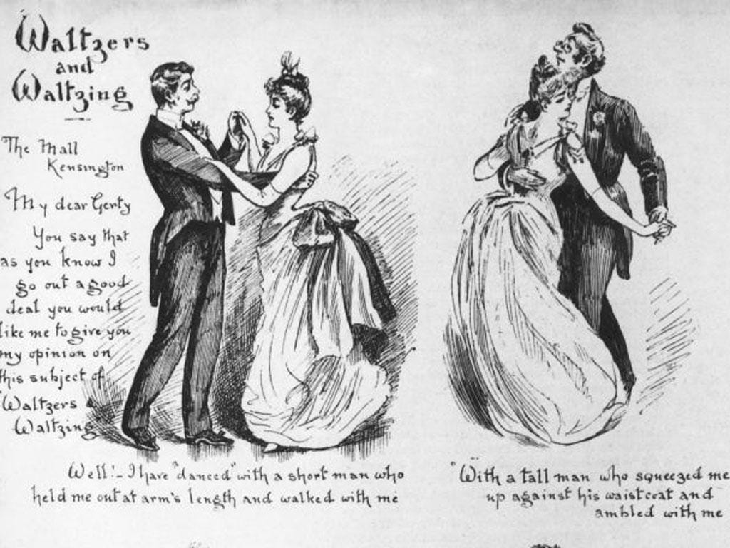 The waltz had one paper fulminating: 'This indecent foreign dance ...'