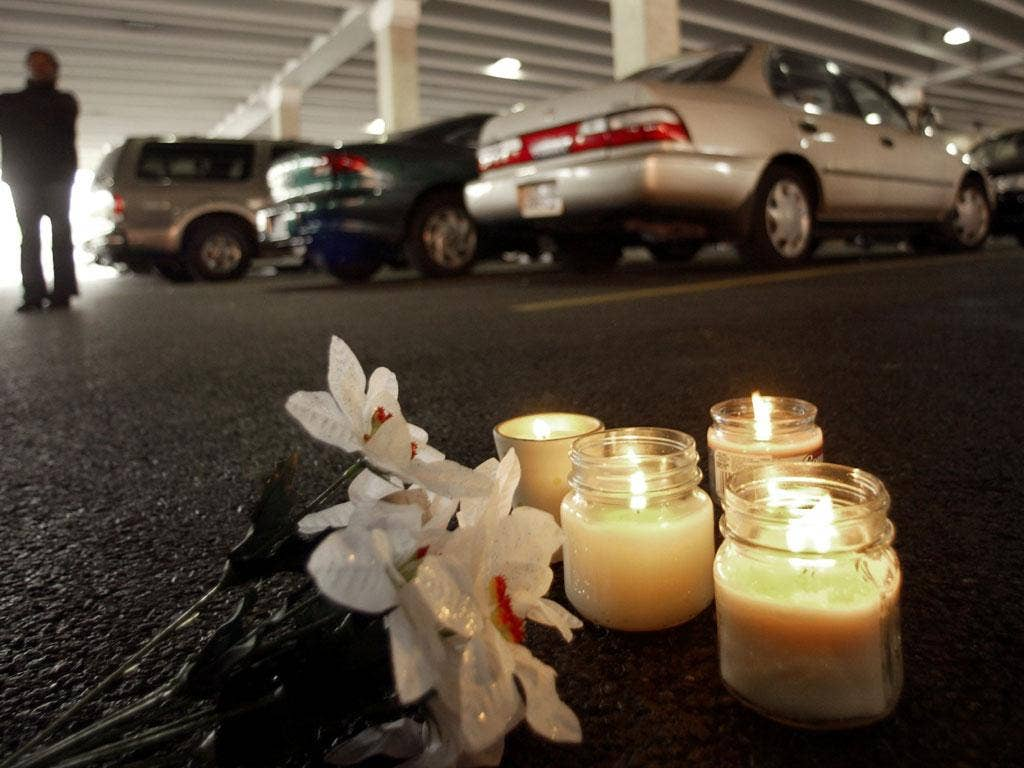 In memoriam: Shrine for a Virginia victim of the Washington snipers