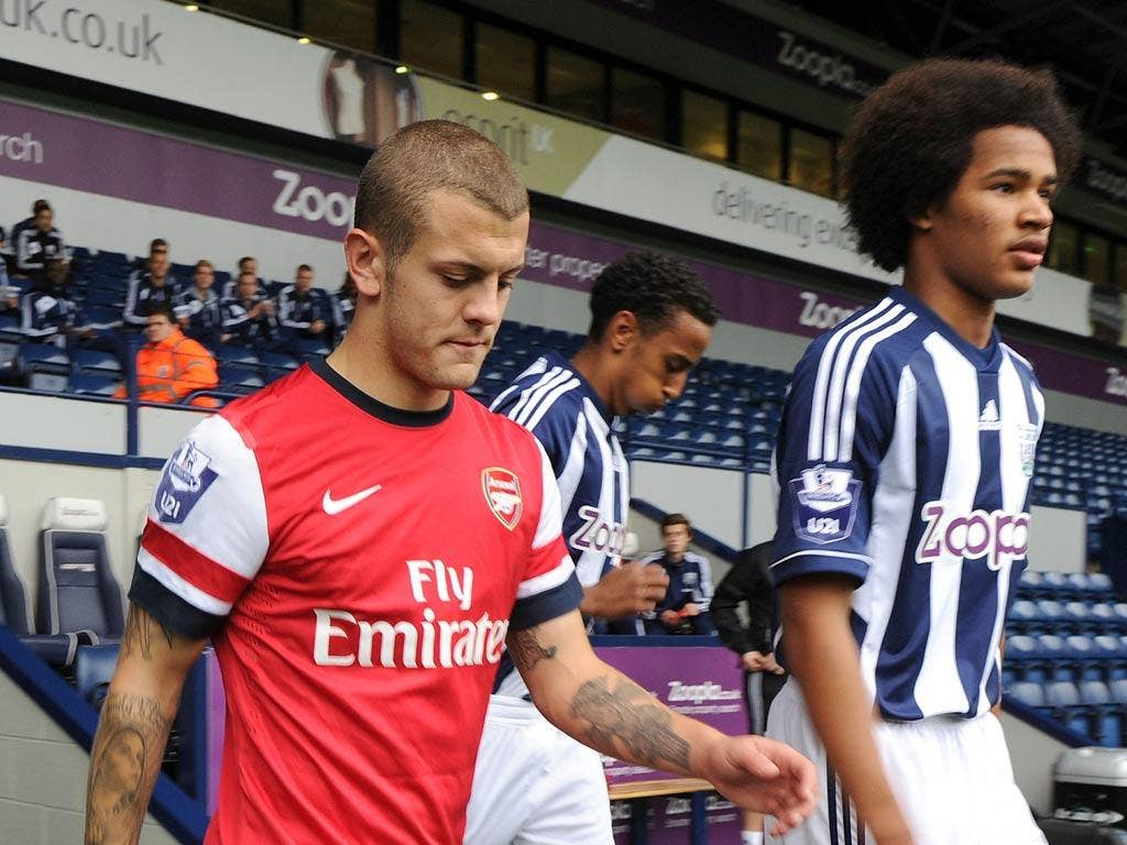 Jack Wilshere features for Arsenal under-21s