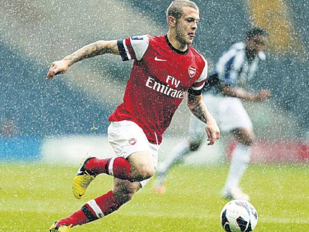 Wilshere managed 62 minutes of action against West Bromwich